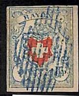 94989aJ - SWITZERLAND - STAMPS - Zumstein # 17 II - FINE USED 4 Borders 4 Rande - Gebraucht