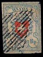 94989aM - SWITZERLAND - STAMPS - Zumstein # 17 II - FINE USED 4 Borders 4 Rande - Gebraucht