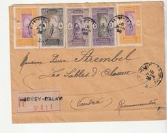 Lettre Recommandée Dahomey  A.O.F. , 1926 - Briefe U. Dokumente