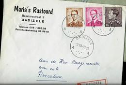 Doc. De DADIZELE - A A - Du 05/10/70  En Rec. ( E ) - Landpost (Ruralpost)