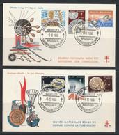 FDC No 1163/1168 Oblit/gestp - 1951-60