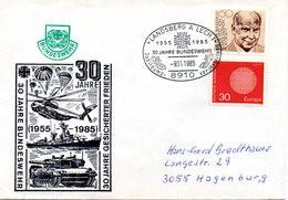 """(L3) BRD Cachetumschlag Bundeswehr """"30 Jahre BUNDESWEHR - 30 Jahre GESICHERTER FRIEDEN"""" SSt 9.11.1985 LANDSBERG A.LECH - Covers & Documents"""