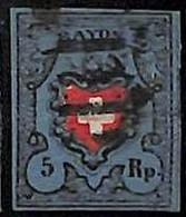 94989dB - SWITZERLAND - STAMPS - Zumstein # 15 II - FINE USED 4 Borders 4 Rande - Gebraucht