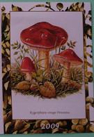 Petit Calendrier De Poche 2009 Champignon Hygrophore Rouge Ponceau - Klein Formaat: 2001-...