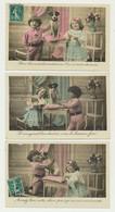 Lot De 5 Cartes Fantaisie Enfants Et Chien - - 5 - 99 Cartoline