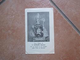 S.CATALDO Vescovo 10 Maggio Città Di Brienza Al Verso Inno A S.Cataldo - Devotion Images