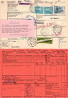 Paketkarte, Zollpapier, Marcus U.a., Luzern Ueber Basel Freiburg Velbert Nach Toenisheide 1973 (99109) - Covers & Documents