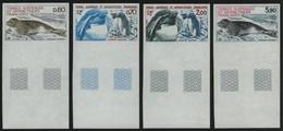 TAAF 1984 - Mi-Nr. 184-187 U ** - MNH - Ungez / Imp - Robben / Pinguine (III) - Geschnitten, Drukprobe Und Abarten