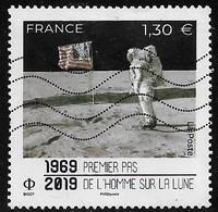 P2019  50 Ans  Premier Pas De L'Homme Sur La Lune - Used Stamps