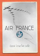 Carte Postale ( AIR FRANCE ) timbre Maroc 50f Vert oblitération CASABLANCA BOURSE MAROC 1939 Pour PARIS - Airmail