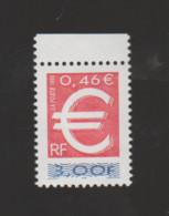 FRANCE / 1999 / Y&T N° 3214 ** : TP Euro (de Feuille) X 1 BdF Haut - Unused Stamps