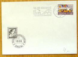 Schweiz Suisse 1988: Zu 743 Mi 1335 Yv 1269 Mit AUTOMOBIL-POSTBUREAU O LANGNAU AM ALBIS 19.9.88 TAG DER BRIEFMARKE - Tag Der Briefmarke