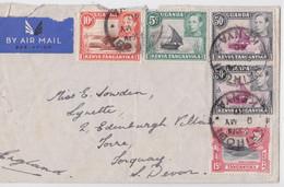 KUT AIR MAIL COVER NAIROBI 1940 TO TORQUAY DEVON UK - Kenya, Uganda & Tanganyika