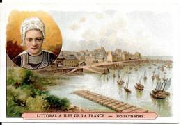 IMAGE CHROMO THÈME LITTORAL & ILES DE LA FRANCE DOUARNENEZ FOLKLORE COIFFE - Andere