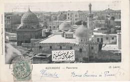 ALEXANDRIE BLANC SUR CARTE POUR LA FRANCE 1915 - Lettres & Documents