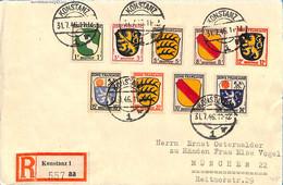 Allemagne Zone Française  1946 Lettre De Konstanz   (G0008) - Zona Francesa