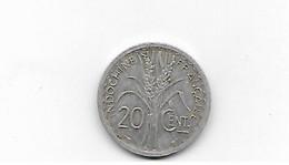 Indochine 20 Centimes 1945 - Kolonies