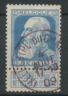 D - [49065]TB//O/Used-N° 75, TB Obl Centrale 'Ixelles (Pl.du Chatelain)' - 1905 Breiter Bart