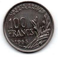 100 Francs 1958 / TTB+ - N. 100 Franchi