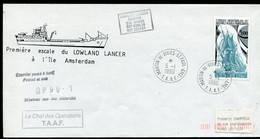 20047 T.A.A.F N°137 ° 5F <<La Fortune>> Première Escale  Du Lowland Lancer Obl. St Paul Du 5.1.1990  TB - Cartas