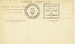 DAGUIN MARNE Chalons Sur Marne  Pseudo Daguin Exposition 1935    K47 - Mechanical Postmarks (Other)