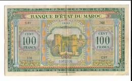 Billet Maroc 100 Francs 01-05-143 Série C37 - Morocco