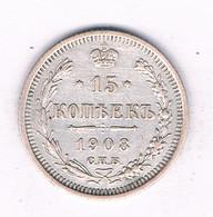 15 KOPEK 1908  RUSLAND /9071/ - Russland