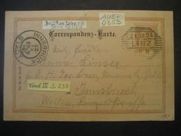 Österreich Kaiserreich Ganzsache 1894- Bild Correspondez- Karte Gelaufen Linz Nach Innsbruck N0353 - Ongebruikt