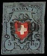 94990gB - SWITZERLAND -  STAMP  - Zumstein # 15 II -  USED - DEFECTIVE - Gebraucht