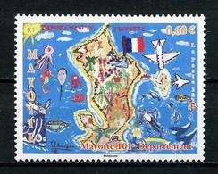 MAYOTTE 2011  N° 259 ** Neuf MNH Superbe 101e Département Drapeau Carte De Lîle Poissons Fishes Flag - Nuovi