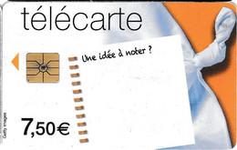"""Télécarte Orange 7,50 Euros - """"une Idée à Noter ?"""" - Telecom Operators"""
