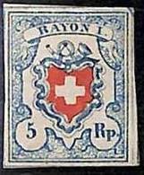 94990h - SWITZERLAND -  STAMP  - Zumstein # 17 II - MINT HINGED Very Nice! MH - Gebraucht