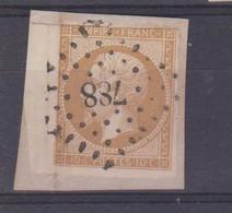 N°13A (coin De Feuille) OBL. PC 788 (CHATEAUNEUF-en-THYMERAIS Eure-etLoire) Sur Tt Petit Frgmt - 1849-1876: Période Classique