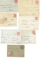 23 Monaco Albert 1er 10 C Rouge Lot De 7 Devants De Lettres Et Une Lettre 16-04-1900 - Storia Postale