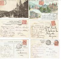 23 Monaco Albeert 1er 10 C. Rouge Lot De 6 CP - Storia Postale