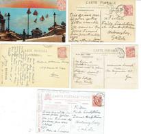 23 Monaco Albert 1er 10 C. Rouge Lot De 5 CP - Storia Postale
