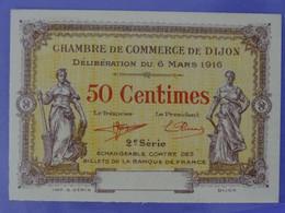 Billet NEUF De 50 Centimes 2ème Série (3) Chambre De Commerce De DIJON (Côte D'Or) Imprimeur Gérin à Dijon - Cámara De Comercio