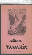 XW // Vintage French Old Theater  Program // Affichette Programme Cabaret LE TABARIN 1966 Adieu TABARIN CALVI - Tickets - Entradas
