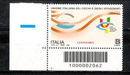 Italia 2020 - Senso Civico Unione Italiana Ciechi E Ipovedenti Codice A Barre MNH ** - Codici A Barre