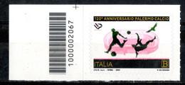 Italia 2020 - Palermo Football Club Codice A Barre MNH ** - Code-barres