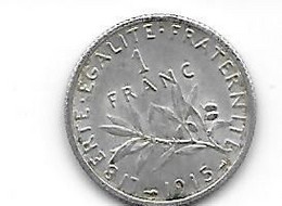 MONAIES FRANCE 1F  1915 - H. 1 Franc