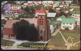 Paco \ ISOLE FALKLAND \ 195cfka \ Stanley - Christ Church Cathedral \ Usata - Islas Malvinas