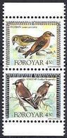 Faroer 1996 Uccelli / Dänemark Färöer 1996 Mi-Nr. 298 + 299 Vögel - Färöer Inseln