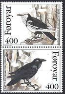 Faroer 1995 Corvo / Dänemark Färöer 1995 Mi-Nr. 283 + 284 Rabe - Färöer Inseln