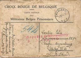 Kriegsgefangenenpost Prisonnier Guerre 31/12/1940 Stalag VI D + Censure, Départ De CHARLEROI ,CROIX ROUGE De Belgique - Covers