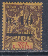 Cote D'Ivoire N° 19  X Type Groupe Surchargé : 0.10 Sur 75 C., Trace De  Charnière   Sinon TB - Unused Stamps