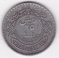 Syrie - Protectorat Française 25 Piastres 1933 En Argent, KM# 73 , Lec# 33 - Syria