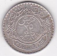 Syrie - Protectorat Française 25 Piastres 1936 En Argent, KM# 73 , Lec# 33 - Syria