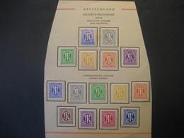 Deutschland Alliierte Besetzung Bizone- Marken Englische Ausgabe Satz Mi.Nr. 10-15 Falz, Amerikanische Ausgabe 1-9 Falz - Zone Anglo-Américaine
