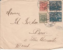 POLOGNE AFFRANCHISSEMENT COMPOSE SUR LETTRE POUR LA FRANCE 1921 - Briefe U. Dokumente